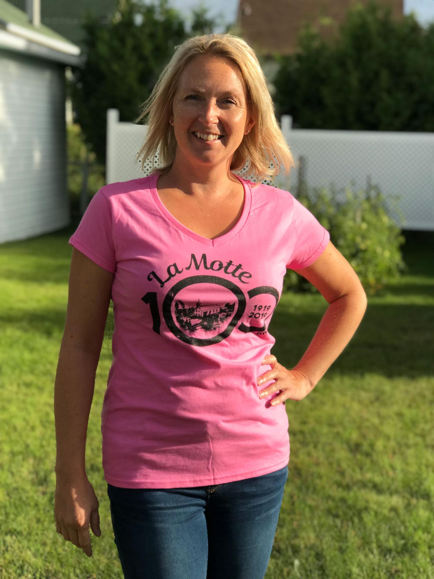 100e-tshirt-femme-logo-rose